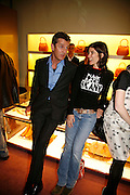 RUPERT EVERETT AND BELLA FREUD, Launch of the GQ Style Leisure issue and the Presentation of the Spring Summer 2006 collection. Prada. Old Bond St. 30 March 2006. ONE TIME USE ONLY - DO NOT ARCHIVE  © Copyright Photograph by Dafydd Jones 66 Stockwell Park Rd. London SW9 0DA Tel 020 7733 0108 www.dafjones.com