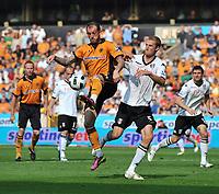 Wolverhampton Wanderers/Fulham Premiership 23.04.11<br />Photo: Tim Parker Fotosports International<br />Stephen Fletcher Wolverhampton Wanderers & Brede Hangeland Fulham