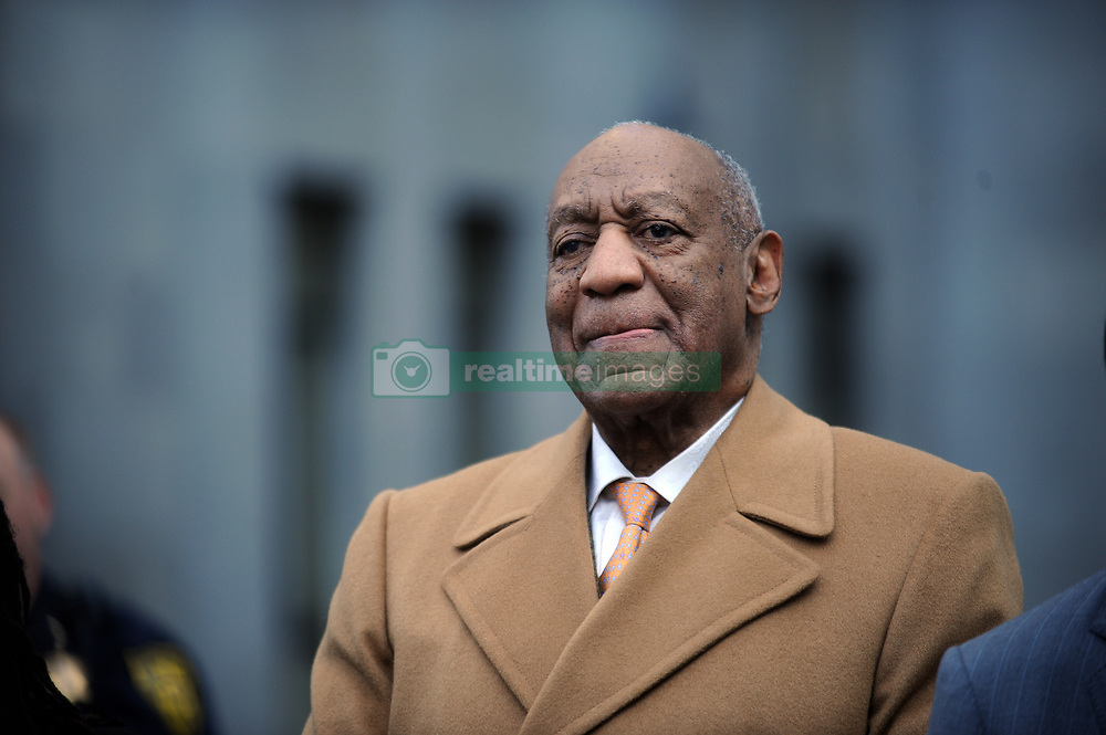 April 12, 2018 - Norristown, Pennsylvania, U.S. - Actor/ stand-up comedian BILL COSBY leaving the Montgomery County Courthouse during the fourth day of his retrial for sexual assault charges. A former Temple University employee alleges that the entertainer drugged and molested her in 2004 at his home in suburban Philadelphia. More than 40 women have accused the 80 year old entertainer of sexual assault. (Credit Image: © SMG via ZUMA Wire)