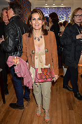 MONA KHASHOGGI at a party to celebrate the 30th anniversary of Linley held at Linley, 60 Pimlico Road, London on 3rd May 2016.