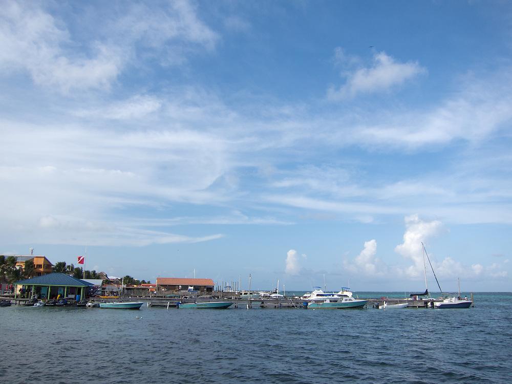 San Pedro, Belize 8/31/2012.The view from the pier in San Pedro..Alex Jones / www.alexjonesphoto.com