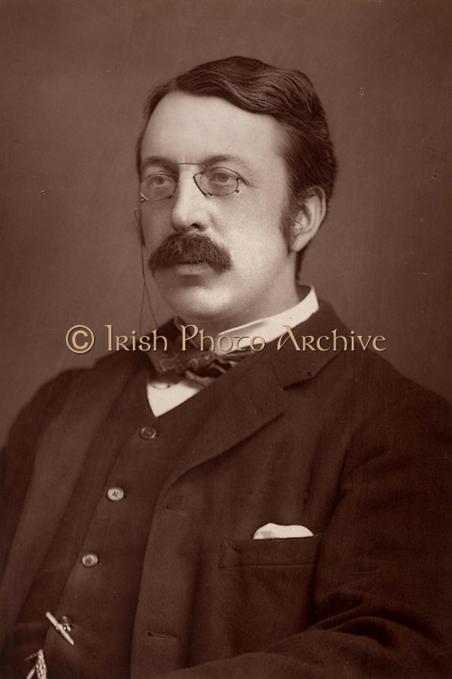 Charles Villiers Stanford (1852-1924) Irish composer and musical educator, born at Dublin. From 'The Cabinet Portrait Gallery' (London, 1890-1894).  Woodburytype after photograph by W & D Downey.