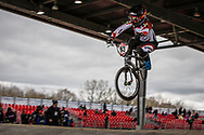 #93 (STEVAUX CARNAVAL Priscilla Andreia) BRA at the 2018 UCI BMX Superscross World Cup in Saint-Quentin-En-Yvelines, France.