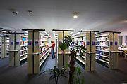 Universities in Vienna, Austria..WU (Wirtschaftsuniversität Wien)..The library.