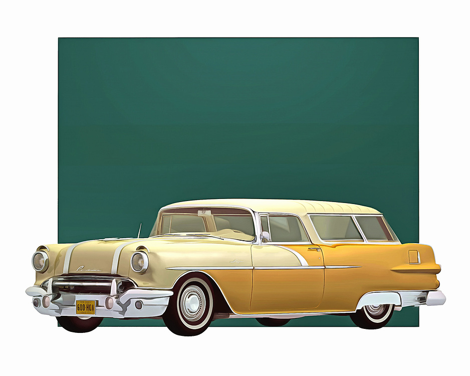 1956 was a remarkable year for automobiles. This Safari Station Wagon from Pontiac is a great example of what cars used to mean. This is the sort of image that just makes you want to jump in the car, and then go as fast as the engine will take you. .<br /> <br /> BUY THIS PRINT AT<br /> <br /> FINE ART AMERICA<br /> ENGLISH<br /> https://janke.pixels.com/featured/pontiac-safari-station-wagon-1956-jan-keteleer.html<br /> <br /> WADM / OH MY PRINTS<br /> DUTCH / FRENCH / GERMAN<br /> https://www.werkaandemuur.nl/nl/shopwerk/Klassieke-auto---Oldtimer-Pontiac-Safari-Station-wagon-1956/435238/134