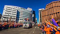 Denver Broncos' Chris Harris Jr. and Aqib Talib, Super Bowl 50 victory parade in Downtown Denver, Colorado USA.