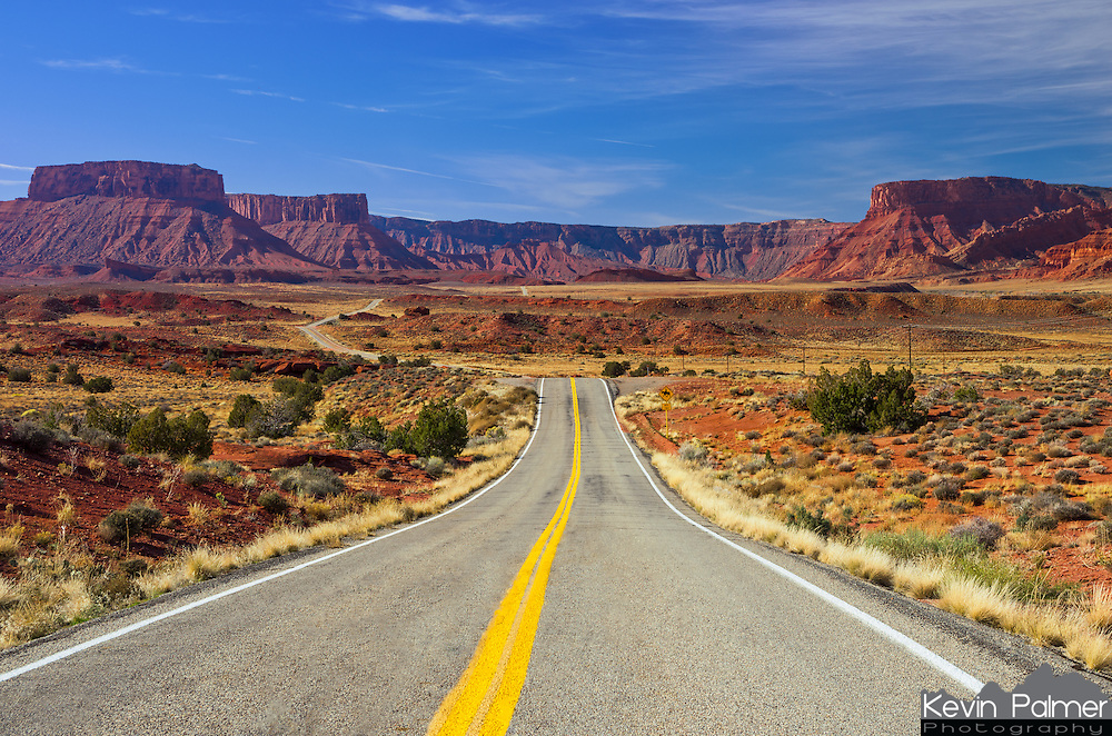 Highway 128 winds through a canyon formed by the Colorado River. This scenic road leads from Interstate 70 to the town of Moab, Utah.<br /> <br /> Date Taken: 11/8/2013