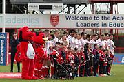 The Hull KIngston Rovers team prior to  the Betfred Super League match between Hull Kingston Rovers and Leeds Rhinos at the Lightstream Stadium, Hull, United Kingdom on 29 April 2018. Picture by Mick Atkins.