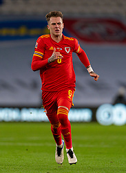 CARDIFF, WALES - Wednesday, November 18, 2020: Wales' Joe Rodon during the UEFA Nations League Group Stage League B Group 4 match between Wales and Finland at the Cardiff City Stadium. Wales won 3-1 and finished top of Group 4, winning promotion to League A. (Pic by David Rawcliffe/Propaganda)