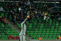 KRASNODAR, RUSSIA - OCTOBER 28: FC Krasnodar fans during the UEFA Champions League Group E stage match between FC Krasnodar and Chelsea FC at Krasnodar Stadium on October 28, 2020 in Krasnodar, Russia. (Photo by MB Media)