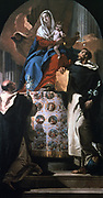 Virgin nad child with St Dominic and St Hyacinth' 1740-1750.  Giovanni Battista (Gianbattista) Tiepolo (1696-1770) Venetian painter.   Dominic (1170-1221) Spanish, founder of Black Friars. Hyacinth (1185-1257) Polish, evanglised Poland.