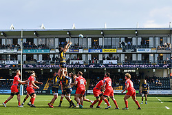 Darren Barry of Worcester Warriors claims the line out - Mandatory by-line: Craig Thomas/JMP - 13/04/2019 - RUGBY - Sixways Stadium - Worcester, England - Worcester Warriors v Sale Sharks - Gallagher Premiership Rugby