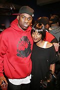l t o r: David Banner and Res at The Sony HipHop Live Tour featuring Talib Kweli and David Banner held at The Nokia Theater on October 25, 2008 in NYC