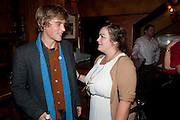 JOHNNY FLYNN; CHARLOTTE MILLS; Opening in the West end of the Royal Court's Jerusalem after a run on Broadway..<br /> WAXY O CONNORS, 14-16 RUPERT STREET, LONDON . 17 October 2011.  <br /> <br />  , -DO NOT ARCHIVE-© Copyright Photograph by Dafydd Jones. 248 Clapham Rd. London SW9 0PZ. Tel 0207 820 0771. www.dafjones.com.