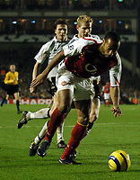 Photo: Javier Garcia/Back Page Images Mobile +447887 794393 Arsenal v Rosenborg, UEFA Champions League 07/12/04, Highbury<br />Thierry Henry back to doing what he does best, terrorising defences