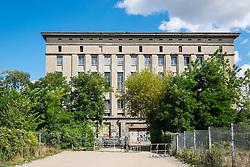 Exterior view of  Berghain nightclub in Berlin Germany