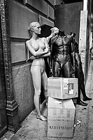 Discarded and forgotten, these poor mannequins were put out on the street near Fifth Avenue where they hoped to get some rejuvenation........