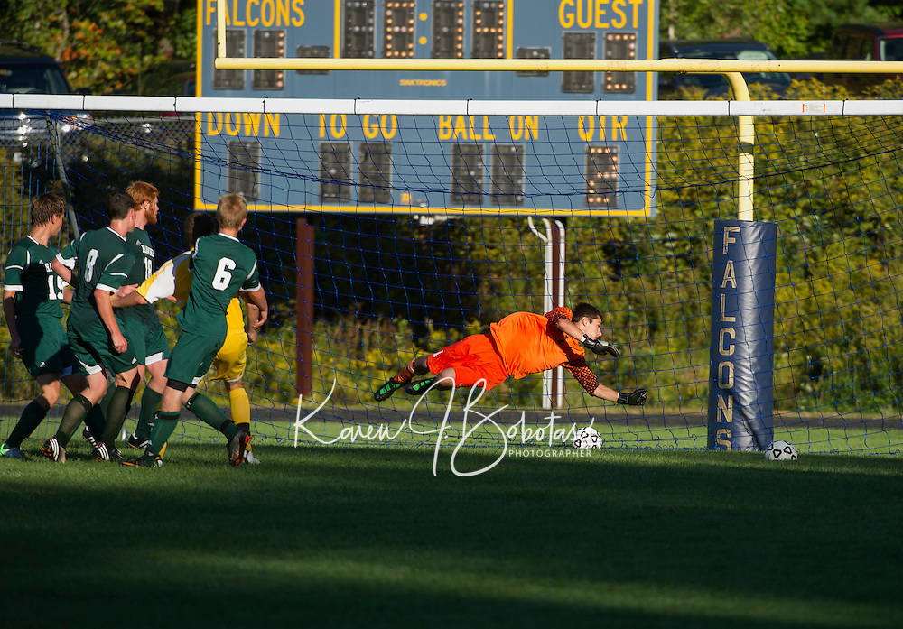 Boys varsity soccer Bow versus Hopkinton September 11, 2012.  (Karen Bobotas/for the Concord Monitor)