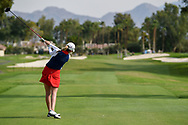 Sarah Schmelzel (USA) watches her tee shot on 2 during round 2 of the 2020 ANA Inspiration, Mission Hills C.C., Rancho Mirage, California, USA. 9/11/2020.<br /> Picture: Golffile | Ken Murray<br /> <br /> All photo usage must carry mandatory copyright credit (© Golffile | Ken Murray)