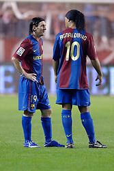 03-03-2007 VOETBAL: SEVILLA FC - BARCELONA: SEVILLA  <br /> Sevilla wint de topper met Barcelona met 2-1 / Lionel Messi<br /> ©2006-WWW.FOTOHOOGENDOORN.NL