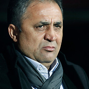 Gaziantepspor BSB's coach Bunyamin Sural during their Turkey Cup matchday 3 soccer match Besiktas between Gaziantepspor BSB at the Inonu stadium in Istanbul Turkey on Wednesday 11 January 2012. Photo by TURKPIX