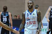 Udanoh Ike esultanza, RED OCTOBER CANTU' vs DOLOMITI ENERGIA TRENTINO, 2°giornata Campionato Lega Basket Serie A 2018/2019, PalaDesio 14 ottobre 2018 - FOTO: Bertani/Ciamillo