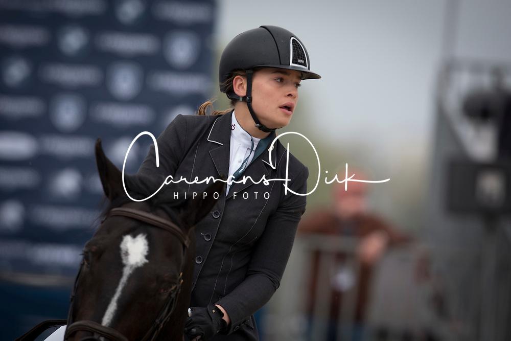 D'Have Lynn, (BEL), Comme D Api v Hacienda <br /> Grans Prix CSI 2*<br /> Longines Global Champions Tour - Antwerp 2015<br />  © Hippo Foto - Dirk Caremans<br /> 25/04/15