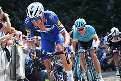 August 19, 2018 - Geraardsbergen, BELGIUM - Czech Zdenek Stybar of Quick-Step Floors pictured in action at the Muur Kapelmuur during the final stage of the Binkcbank Tour cycling race, 209,5 km from Lacs de l'Eau d'Heure to Geraardsbergen, Belgium, Sunday 19 August 2018. BELGA PHOTO DAVID STOCKMAN (Credit Image: © David Stockman/Belga via ZUMA Press)