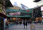 People shopping at Westfield shopping centre, Stratford, London, England, UK