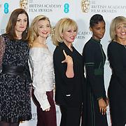 London, England, UK. 9th January 2018. Amanda Berry, Natalie Dormer, Joanna Lumley, Letitia Wright,Jane Lush attend EE British Academy Film Awards Nominations, London, UK