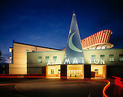 The Walt Disney Animation Building at company headquarters in Burbank.