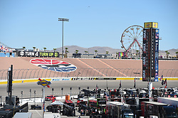 September 14, 2018 - Las Vegas, NV, U.S. - LAS VEGAS, NV - SEPTEMBER 14: A general view of Turn 4 and the Turn 4 Turn Up attraction during practice for the South Point 400 Monster Energy NASCAR Cup Series Playoff Race on September 14, 2018 at Las Vegas Motor Speedway in Las Vegas, NV. (Photo by Chris Williams/Icon Sportswire) (Credit Image: © Chris Williams/Icon SMI via ZUMA Press)