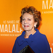 NLD/Hilversum/20151101 - Prinses Mabel aanwezig bij de Premiere He Named Me Malala, Neelie Kroes
