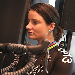 07-02-2017: Wielrennen: Teampresentatie WM3: Eindhoven  <br /> EINDHOVEN (NED) cycling<br /> At the European Head Quater of Shimano the new WM3 Team with leading lady Marianne Vos was presented. Marianne Vos want to have a steady season