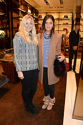 Left to right, ASTRID HARBORD and VIOLET VON WESTENHOLZ at a party hosted by Gucci & Clara Paget to drink a new cocktail 'I Bamboo You' held at Gucci, 34 Old Bond Street, London on 16th October 2013.