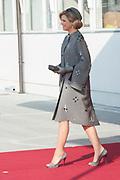 Staatsbezoek Denemarken - Dag 1. Aankomst van het Koninklijk gezelschap op vliegveld Kastrup<br /> <br /> State visit Denmark - Day 1. Arrival of the Royal Family at Kastrup airport<br /> <br /> op de foto / On the photo:  Koningin Maxima /  Queen Maxima