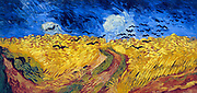 Vincent Van Gogh (1853 – 1890) Dutch post-Impressionist painter. Van Gogh suffered from mental illness and died from a self-inflicted gunshot wound. Wheatfield with Crows (1890), Van Gogh Museum, Amsterdam