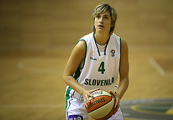 Katarina Ilijev at basketball qualification match of women division B  between National teams of Slovenia and Netherlands, on August 27, 2008, in Vitranc Hall, Kranjska Gora. Win of NED 83:81. (Photo by Vid Ponikvar / Sportida)