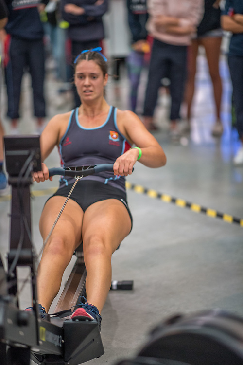 Beckie Leigh FEMALE HEAVYWEIGHT U17 2K Race #3  09:00am<br /> <br /> www.rowingcelebration.com Competing on Concept 2 ergometers at the 2018 NZ Indoor Rowing Championships. Avanti Drome, Cambridge,  Saturday 24 November 2018 © Copyright photo Steve McArthur / @RowingCelebration