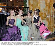 Clara Armand-Delille, Laurence de Dampierre,  Constance de Catheu, Ines de Seroux. Debutantes at the Crillon Hotel Debutante Ball. 28 November 1999<br />© Copyright Photograph by Dafydd Jones 66 Stockwell Park Rd. London SW9 0DA Tel 0171 733 0108