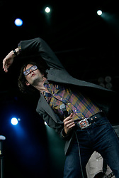 Jarvis Cocker on the main stage, the Connect festival in Inveraray.<br /> ©Pic : Michael Schofield.