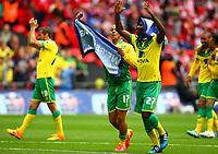 Football - 2015 Championship Play-Off Final - Middlesbrough vs. Norwich City<br /> <br /> Alex Tettey celebrates with Elliott Bennett at Wembley.<br /> <br /> COLORSPORT/KEN SUTTON
