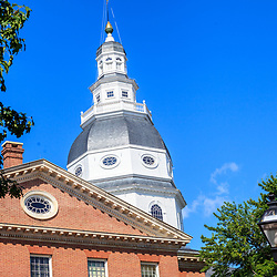 Annapolis, MD, USA - May 20, 2012: The Maryland State House in Annapolis MD