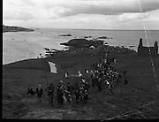 Dalkey  Island, Co Dublin, Ireland.- Crowning the King of the Dalkey Island by Members of CARA.18/07/1954<br />