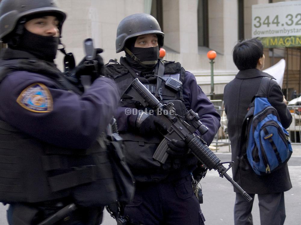 anti terrorism police on wall street New York City