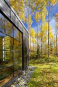 A small guest house along Castle Creek near Aspen, Colorado.