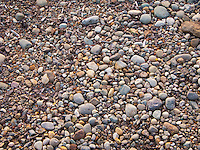 gravel of various sizes carried to the Puget Sound by glaciers that formed the sound.