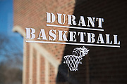 The entrance to the Durant Middle School basketball gym in Durant, Oklahoma on January 27, 2017.  (Cooper Neill for The New York Times)