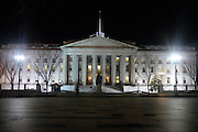 © Licensed to London News Pictures. 01/01/2013. Washington DC, USA . U.S. Department of the Treasury pictured at night. Photo credit : Stephen Simpson/LNP