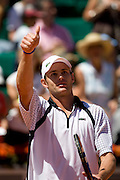 Paris, France. May 30th 2009. .Roland Garros - Tennis French Open. 3rd Round..American player Andy Roddick against Marc Gicquel.